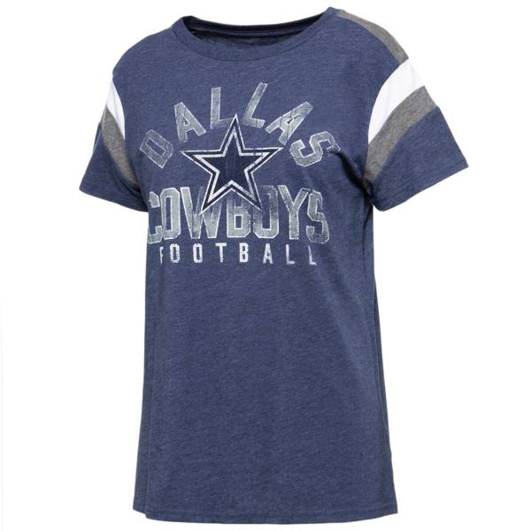 Dallas Cowboys Merchandising Women's Jolie Color Block Navy T-Shirt product image