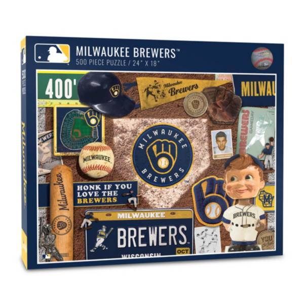 You The Fan Milwaukee Brewers Retro Series 500-Piece Puzzle product image