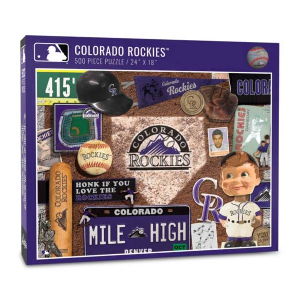 You The Fan Colorado Rockies Retro Series 500-Piece Puzzle product image
