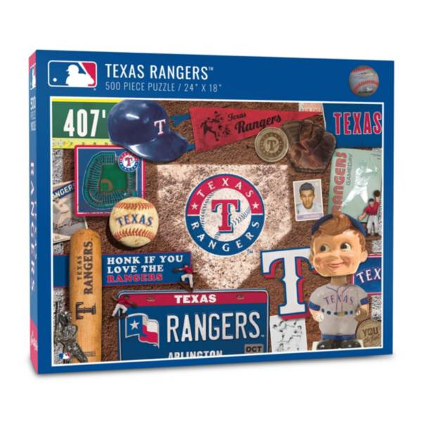 You The Fan Texas Rangers Retro Series 500-Piece Puzzle product image