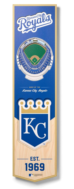You The Fan Kansas City Royals 8''x32'' 3-D Banner product image