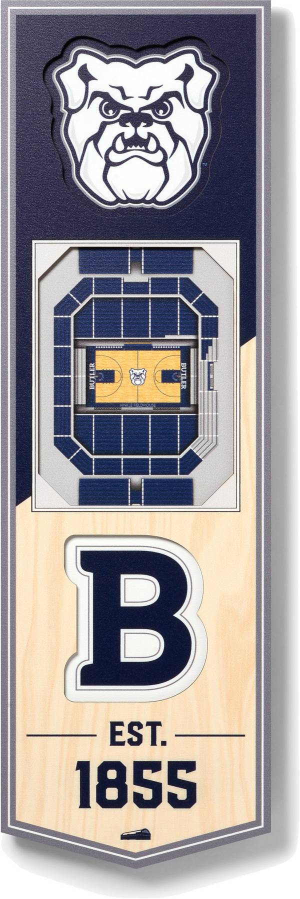 """You The Fan Butler Bulldogs 6""""x19"""" 3-D Banner product image"""