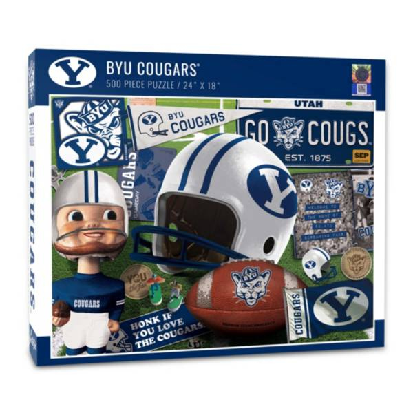 You The Fan BYU Cougars Retro Series 500-Piece Puzzle product image