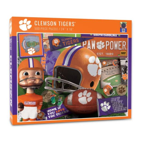 You The Fan Clemson Tigers Retro Series 500-Piece Puzzle product image