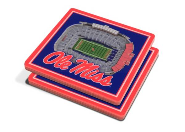 You the Fan Ole Miss Rebels Stadium View Coaster Set product image