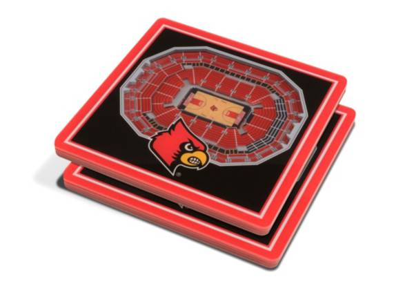 You the Fan Louisville Cardinals Stadium View Coaster Set product image