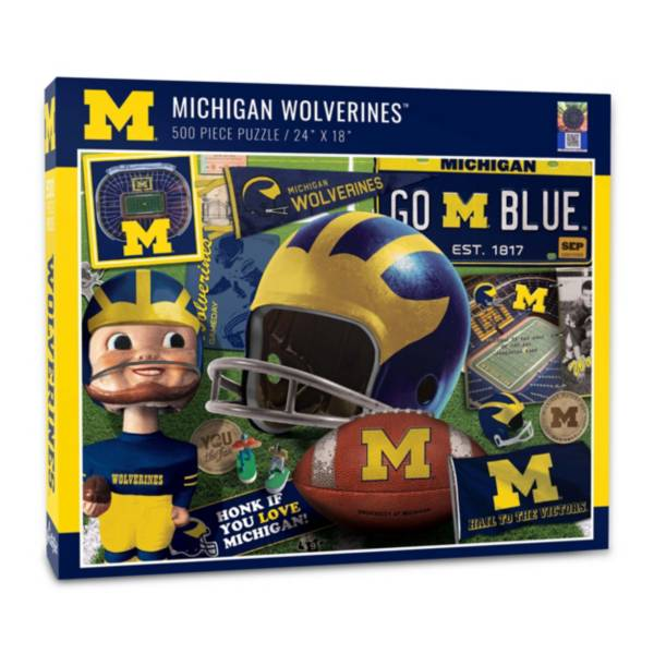 You The Fan Michigan Wolverines Retro Series 500-Piece Puzzle product image