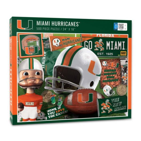 You The Fan Miami Hurricanes Retro Series 500-Piece Puzzle product image