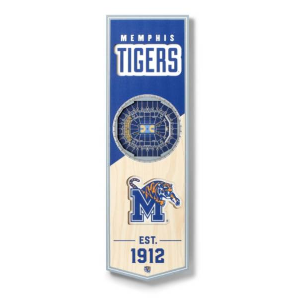 """You The Fan Memphis Tigers 6""""x19"""" 3-D Banner product image"""