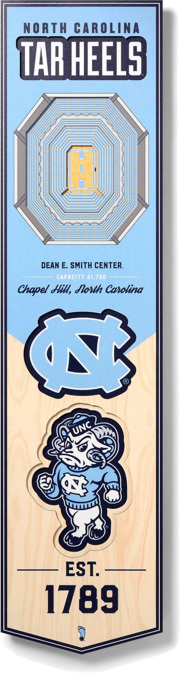"You The Fan North Carolina Tar Heels 8""x32"" 3-D Banner product image"