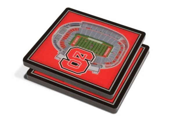 You the Fan NC State Wolfpack Stadium View Coaster Set product image