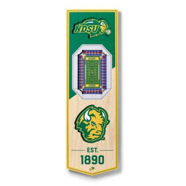 "You The Fan North Dakota State Bison 6""x19"" 3-D Banner product image"