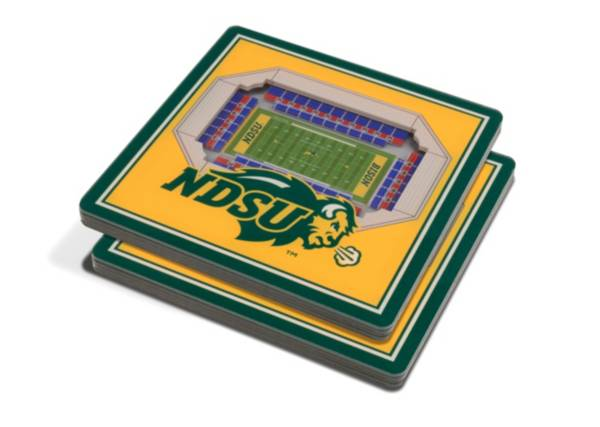 You the Fan North Dakota State Bison Stadium View Coaster Set product image