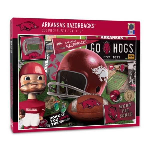 You The Fan Arkansas Razorbacks Retro Series 500-Piece Puzzle product image