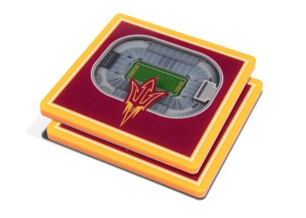 You the Fan Arizona State Sun Devils Stadium View Coaster Set product image