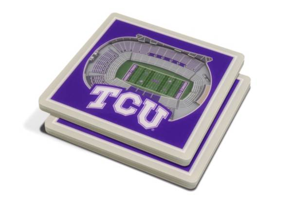 You the Fan TCU Horned Frogs Stadium View Coaster Set product image