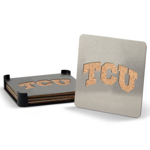You the Fan TCU Horned Frogs Coaster Set product image