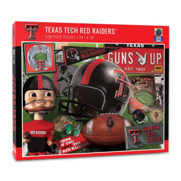 You The Fan Texas Tech Red Raiders Retro Series 500-Piece Puzzle product image