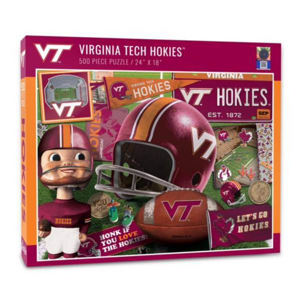 You The Fan Virginia Tech Hokies Retro Series 500-Piece Puzzle product image