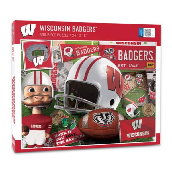 You The Fan Wisconsin Badgers Retro Series 500-Piece Puzzle product image