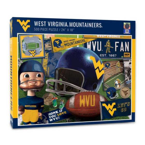 You The Fan West Virginia Mountaineers Retro Series 500-Piece Puzzle product image