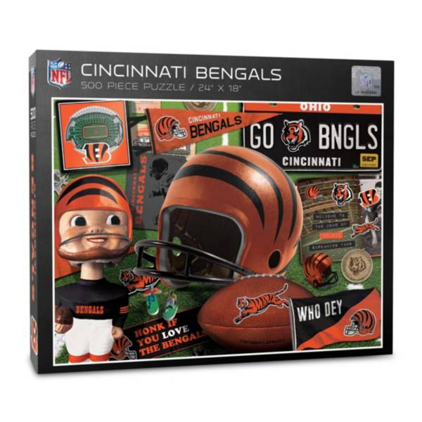 You The Fan Cincinnati Bengals Retro Series 500-Piece Puzzle product image