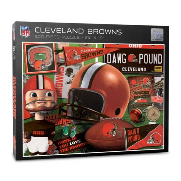 You The Fan Cleveland Browns Retro Series 500-Piece Puzzle product image