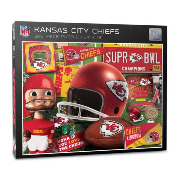 You The Fan Kansas City Chiefs Retro Series 500-Piece Puzzle product image