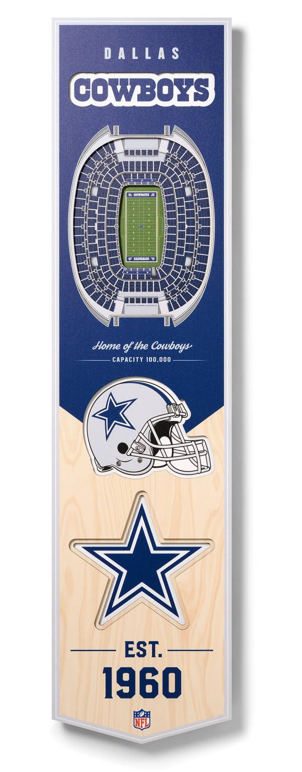 You The Fan Dallas Cowboys 8''x32'' 3-D Banner product image