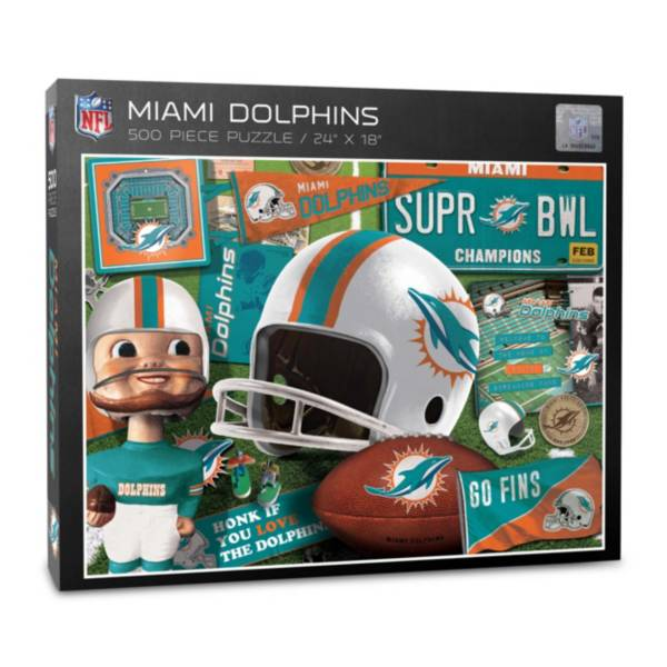 You The Fan Miami Dolphins Retro Series 500-Piece Puzzle product image