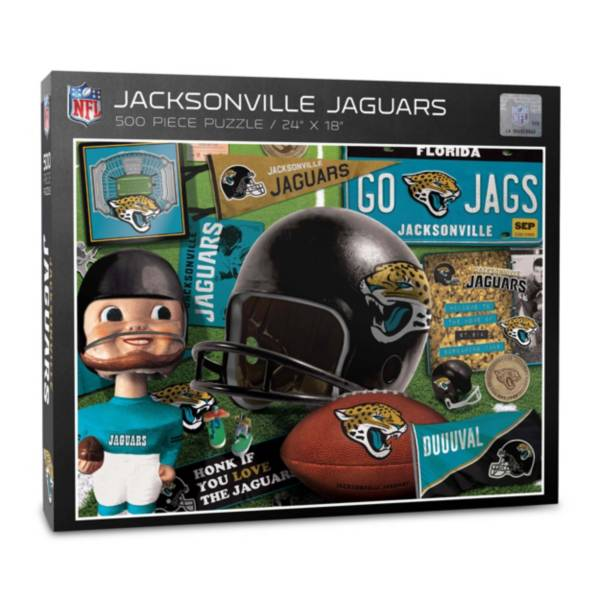 You The Fan Jacksonville Jaguars Retro Series 500-Piece Puzzle product image