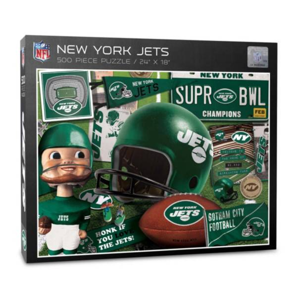 You The Fan New York Jets Retro Series 500-Piece Puzzle product image