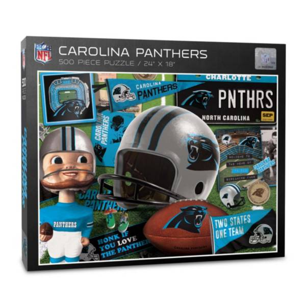 You The Fan Carolina Panthers Retro Series 500-Piece Puzzle product image