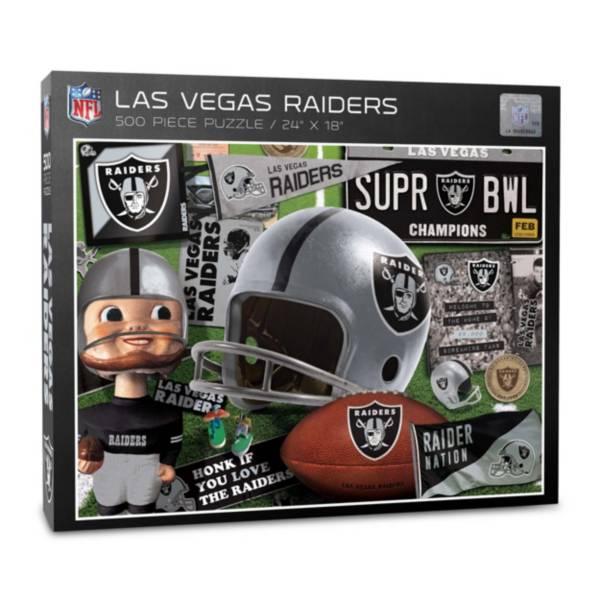 You The Fan Las Vegas Raiders Retro Series 500-Piece Puzzle product image