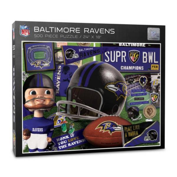 You The Fan Baltimore Ravens Retro Series 500-Piece Puzzle product image