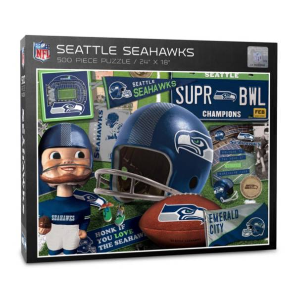 You The Fan Seattle Seahawks Retro Series 500-Piece Puzzle product image