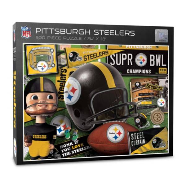 You The Fan Pittsburgh Steelers Retro Series 500-Piece Puzzle product image