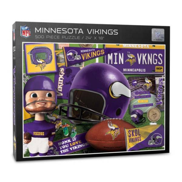 You The Fan Minnesota Vikings Retro Series 500-Piece Puzzle product image