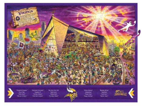 You The Fan Minnesota Vikings Wooden Puzzle product image