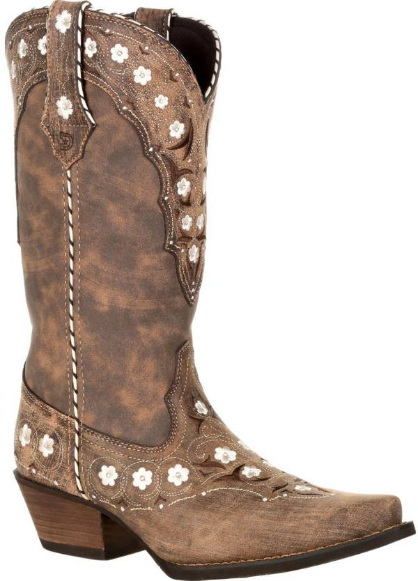 Durango Women's Distressed Floral Western Boots product image