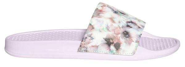Women's One Strap Inked Dye Floral Print Slides product image