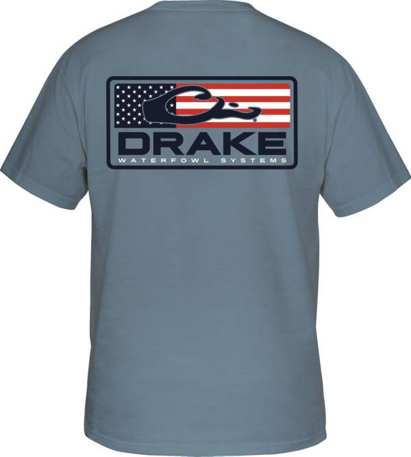 Drake Waterfowl Men's Patriotic Bar Short Sleeve T-shirt product image
