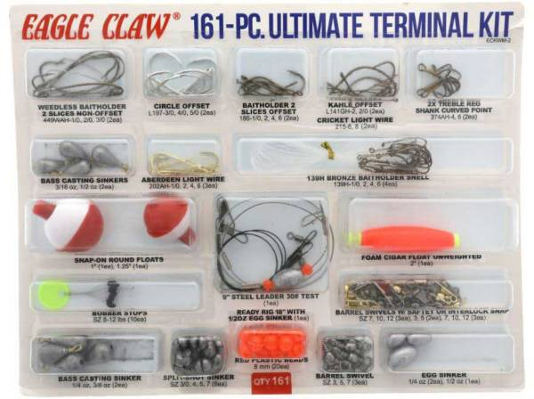 Eagle Claw Lazer Sharp Ultimate Terminal Tackle Kit – 161 Pieces product image