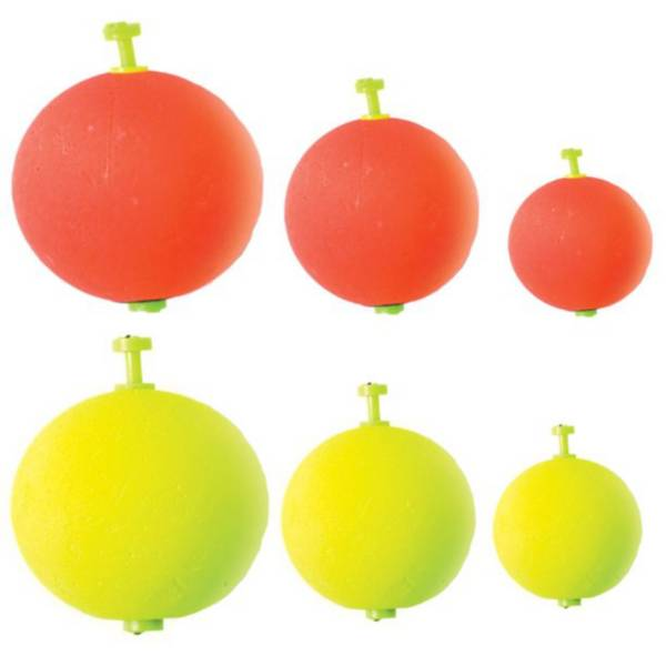 Eagle Claw Round Weighted Foam Floats Assorted Pack product image