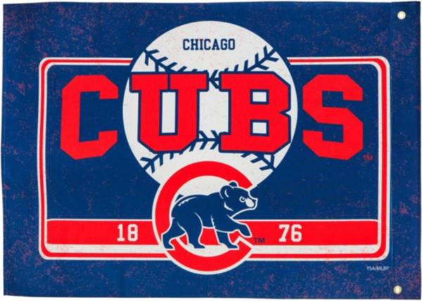 Evergreen Chicago Cubs Linen Estate Flag product image