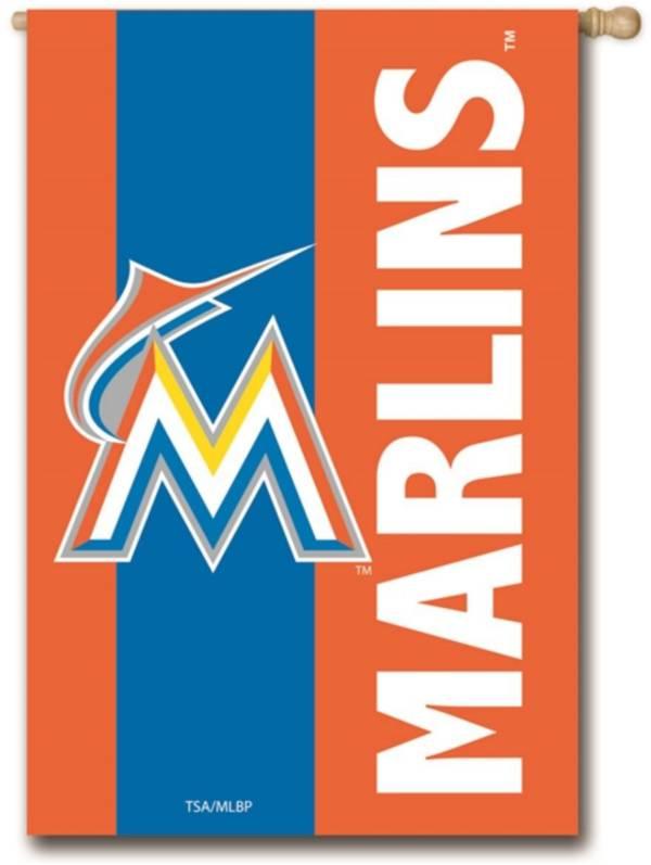 Evergreen Miami Marlins Embellish House Flag product image