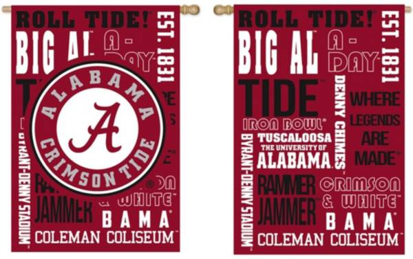 Evergreen Alabama Crimson Tide Fan Rule House Flag product image