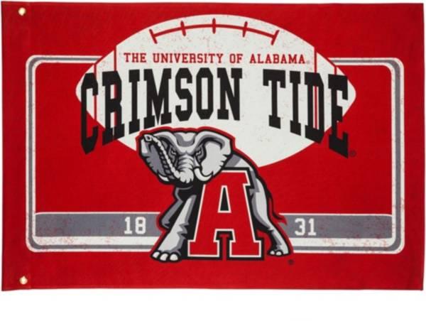 Evergreen Alabama Crimson Tide Linen Estate Flag product image