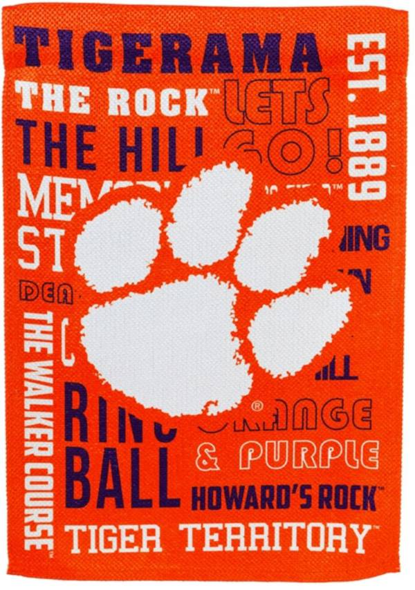 Evergreen Clemson Tigers Fan Rule House Flag product image