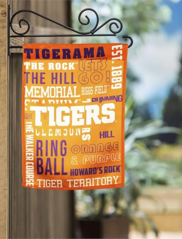 Evergreen Clemson Tigers Fan Rule Garden Flag product image